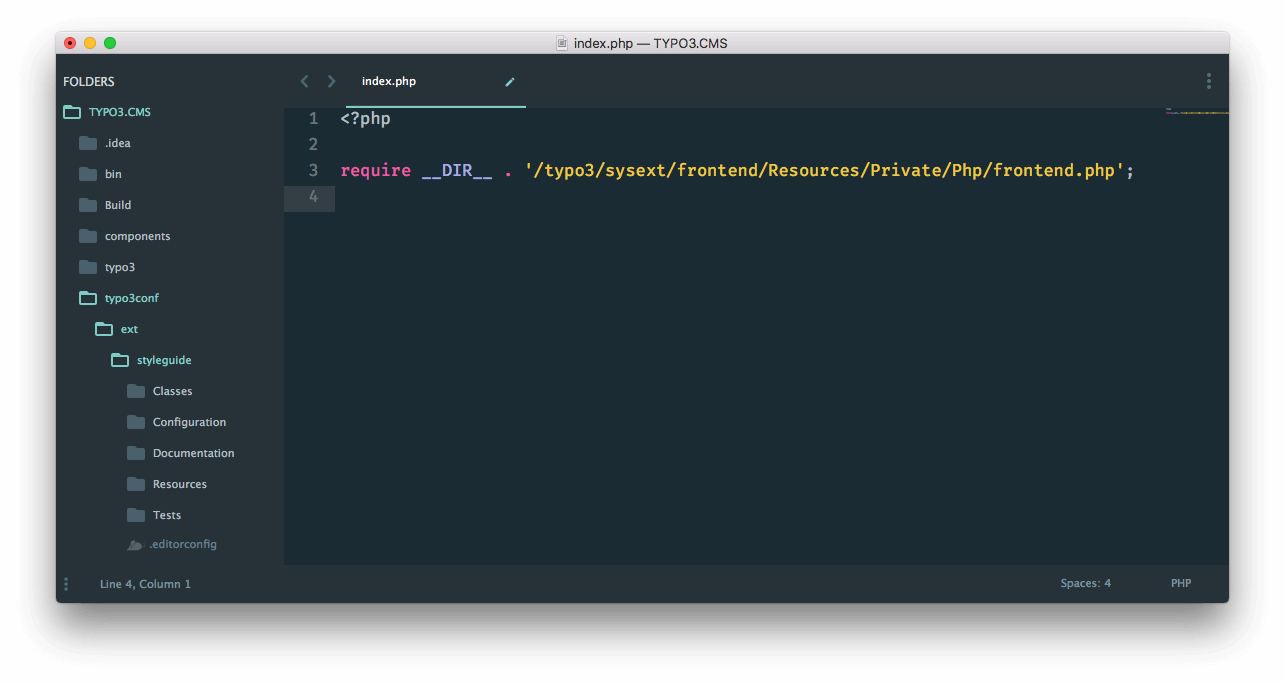 Screenshot Sublime Text 3 with Material-Theme